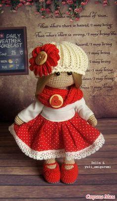 Авторская кукла в красном