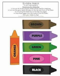 A Heart For Home: Free Colors File Folder Games