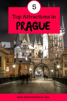 Planning a trip to Prague, Czech Republic? Check out these top 5 tourist attractions that are absolute must-sees for Prague! Europe Travel Guide, Travel Guides, Travel Destinations, Travelling Europe, Backpacking Europe, Traveling, European Destination, European Travel, Euro Travel