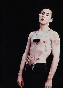 Alan Cumming in Cabaret in 1998.  See Alan reprise his role as Emcee in Cabaret at Studio 54 opening April 24.