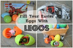 fill you easter eggs with legos