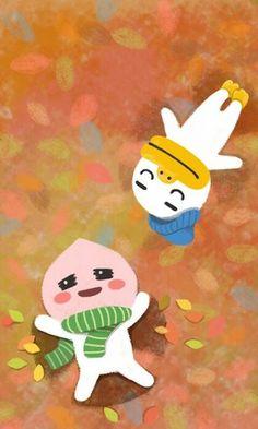 Apeach Kakao, Kakao Friends, Cute Designs, Pikachu, Doodles, Kawaii, Illustration, Peaches, Fictional Characters