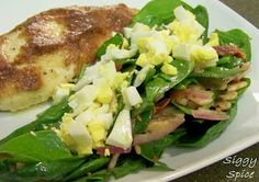 Siggy Spice: Spinach Salad with Warm Bacon Dressing
