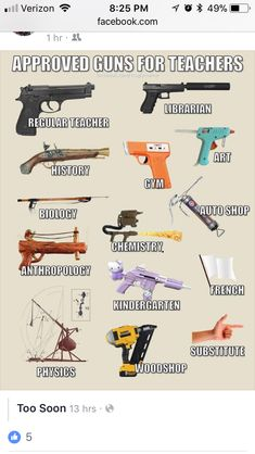 Waffen für Lehrer - Jokes & Quotes - Chemistry Informations Funny Images, Funny Pictures, Military Jokes, Gun Humor, Teacher Jokes, Dark Humour Memes, Jokes Quotes, Gaming Memes, Twisted Humor
