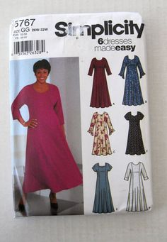 cfb7a62267 New Uncut 2002 Sewing Pattern for Womens Womens Petite Dress  Dress with  princess seams and back zipper has sleeve