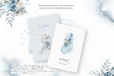 "Pantone color 2020 ""Classic blue"" is the main part of this beautiful product, but nevertheless in a calm and tasteful way to get a natural and sweet Blog Design, Free Design, Bride Clipart, Wedding Card Templates, Pantone Color, Blue Wedding, Floral Watercolor, Graphic Illustration, Greeting Cards"