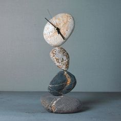 Balancing Stone Clock