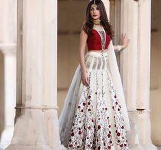 White Color Bollywood Indian Party Wear Lehenga Lengha Choli Stylish Pakistani