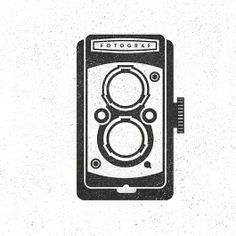 Old School Camera Hand Drawn Illustration #drawing #