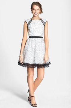 a. drea Lace Fit & Flare Dress (Juniors)   Nordstrom