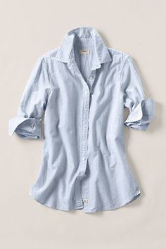 Women's Heritage Striped Oxford Shirt from Lands' End Canvas