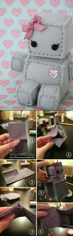 Robot plushie Sewing project