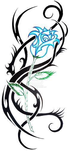 Super Ideas For Tattoo Designs Tribal Deviantart Tribal Rose Tattoos, Vine Tattoos, Rosen Tattoos, Tribal Tattoo Designs, Flower Tattoos, Body Art Tattoos, Sleeve Tattoos, Tribal Bear Tattoo, Tatoos