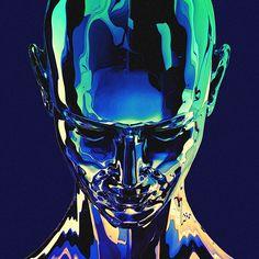 Arte Cyberpunk, Glitch Art, Retro Futurism, Fantastic Art, Graphic Design Posters, Psychedelic Art, Aesthetic Art, Cover Art, Art Inspo