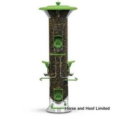 Supa Harmony Wild Bird Feeder The feeder halves slide apart to allow for quick and easy cleaning and it has adjustable perches letting you tailor the feeder to attract the birds you want.