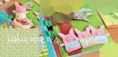 Three Little Pigs Finger Puppet page Fieltrunguis: quiet book