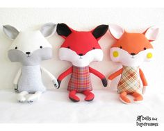 Fox Stuffed Toy Softie PDF Sewing Pattern