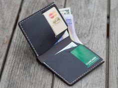 Leather Bifold Wallet Minimalist Hand от MANUFACTURAleather, $60,00