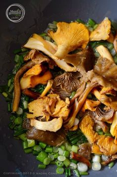 wild mushrooms & wild garlic risotto [*recipe available in English*]