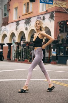 Say hello to your new go to legging! Blue Life Fit's Strappy High Waisted Legging features a form fitting stretch fabrication, ombre effect throughout, and peek a boo strappy sides. Perfect for the tr