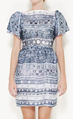 Isabella Tonchi White And Grey Multicolored Dress | VAUNTE