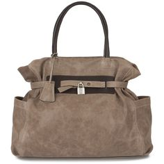Hirshleifers - Brunello Cucinelli - Suede East to West Bag with Lock (Dark Taupe), $2,275.00 (http://www.hirshleifers.com/handbags/top-handles/brunello-cucinelli-suede-east-to-west-bag-with-lock-dark-taupe/)