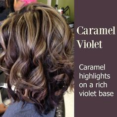 Definitely love this color and hair cutt Violet Highlights, Fall Hair Highlights, Caramel Highlights, Dark Brown Hair With Blonde Highlights, Heavy Highlights, Highlights 2017, Dark Hair With Lowlights, Dark Blonde, Fall Hair Color 2017