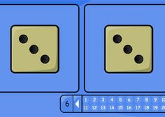 Simple Adding Two Dice activity from TES iboard