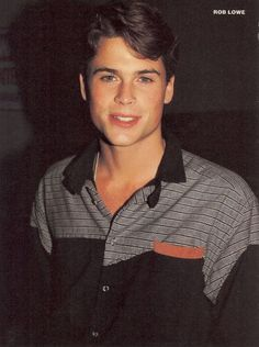rob lowehe was such a cutie Rob Lowe 80s, Rob Lowe Young, Hot Actors, Actors & Actresses, Young Actors, Beautiful Boys, Pretty Boys, Actrices Hollywood, Hot Boys