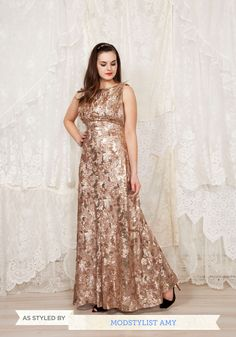 The Sounds of Soul Dress. When asked to sing at tonights soul music tribute, it was important to you that everything from your vocals to your gown did justice to the energy and beauty of the genre. #gold #prom #modcloth
