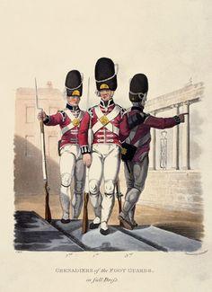Granatieri delle Guardie del piede in alta uniforme 1812