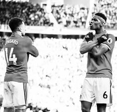 Week 28 : Manchester Utd Chelsea - Jesse Lingard and Paul Pogba (Photo credit : Matthew Ashton - AMA/Getty Images) Jesse Lingard, Paul Pogba, Just A Game, Football Players, Manchester United, Premier League, Photo Credit, Chelsea, The Unit