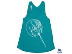 American Apparel Tank Top  HORSESHOE CRAB Womens by Inaprinting