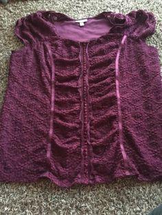 Womens Plus Size 1x Fashion Bug Maroon Sleeveless Blouse Top   eBay