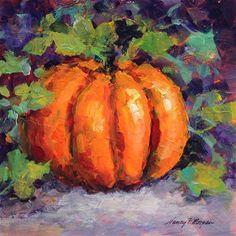 "Daily Paintworks - ""The Great Pumpkin"" - Original Fine Art for Sale - © Nancy F. Morgan"