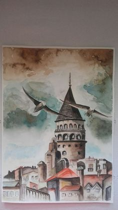 Pin by Kadriye G ng r on Desenler in 2019 Istanbul, Hobbies And Interests, Pour Painting, Acrylic Pouring, Culinary Arts, Art Sketchbook, Mother Nature, Watercolor Art, Decoupage