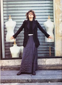 Sandra Bernhard wearing Martin Margiela, photographed by Jean-Baptiste Mondino for The Face, Septmber 1992