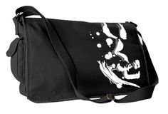 Ikuze! Let's Go Japanese Anime Messenger Bag (black)