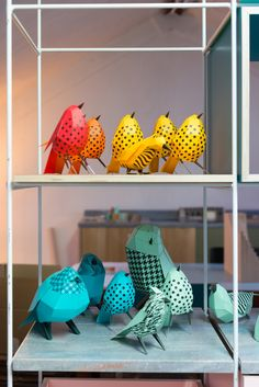 A paper bird exhibition, the paper aviary, made at St James's Market in London, in collaboration with DN&CO