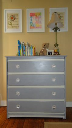Painted childrens dresser by MalcolmHome on Etsy, $225.00