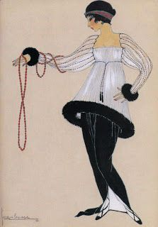 Minaret tunic- a wide tunic, boned to hold out the skirt in a full circle and worn over the narrowest of hobble skirts, designed by Paul Poiret Paul Poiret, Carolina Herrera, Karl Lagerfeld, Art Nouveau, Ballet Russe, Hobble Skirt, Vintage Illustration Art, Estilo Art Deco, Turkish Fashion
