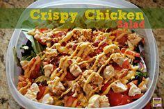 Crispy Chicken Salad with Cheddar & Bacon Kraft Fresh Take #KraftFreshTake #momspotted