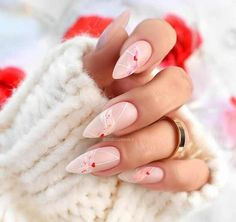 We have collected for you 60 variants of a beautiful manicure for Valentine's Day, which will look good, both on short and long nails! Pink Nail Colors, Pink Nail Art, Pink Nails, Toe Nails, Coffin Nails, Heart Tip Nails, Heart Nail Art, Heart Nail Designs, Toe Nail Designs