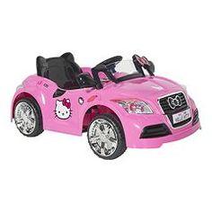 hello kitty 6v ride on sports car