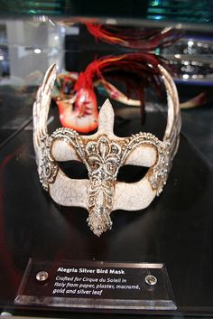 Alegria Silver Bird Mask from Italy for Cirque du Soleil
