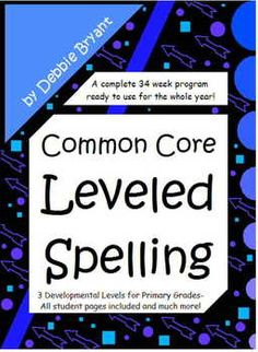 *All year, weekly developmental spelling program for primary grades. 3 levels with all student pages ready to copy and use. Aligned and labeled with Common Core RF Standards. Weekly lists, homework, whole group lessons and more!