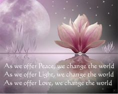 Lotus flower poems quotes the above art print is available for as we offer peace we change the world loved and pinned by downdogboutique mightylinksfo