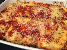 Heerlijke lasagne of cannelloni met spinazie