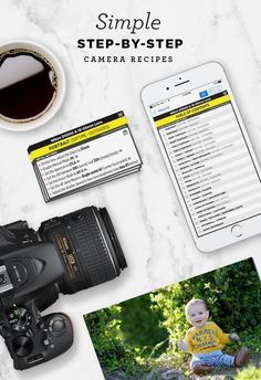 Simple step-by-step cheat sheets to help you take better photos in the real world. Find out the best camera settings for portraits, food, landscapes, nature and more!  #LandscapingPhotography