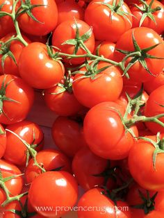 Sweet, red tomatoes at the daily Provençal market. #Provence #France #Aix en Provence